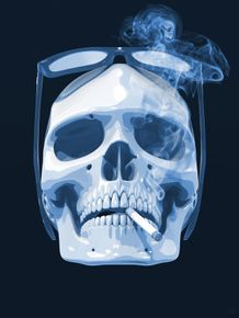 quadro-cigar-smoke-skull-blue