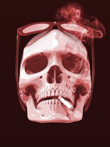 quadro-cigar-smoke-skull-red