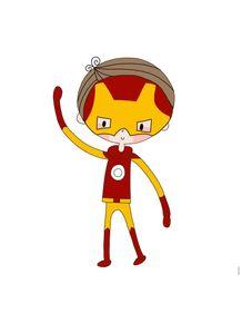 quadro-super-boy--menino-de-ferro