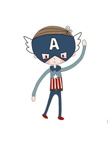 quadro-super-boy-capitao-america