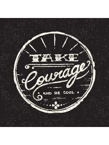 quadro-take-courage--black