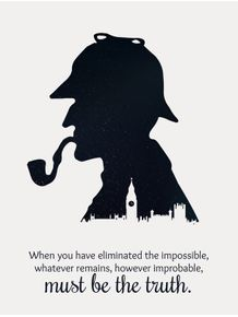 quadro-must-be-the-truth--sherlock-holmes