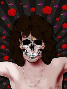 quadro-jim-morrison-skull
