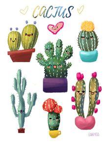 quadro-cute-cactus