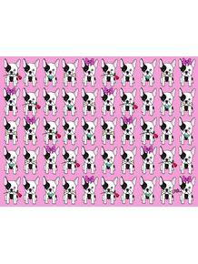 quadro-estampa-bulldog-frances-rosa