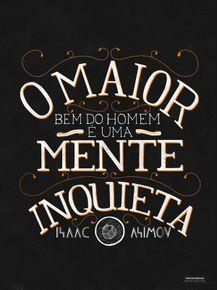 quadro-isaac-asimov-lettering