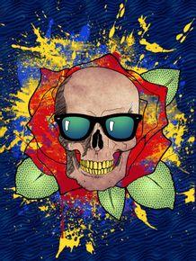 quadro-skull-in-rose