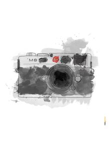 quadro-camera-leica-aquarela