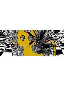 quadro-yellow-cat-squares