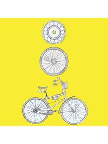 quadro-vou-de-bike-amarela