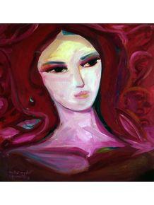 quadro-mulher-em-vermelho