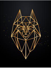 quadro-golden-wolf