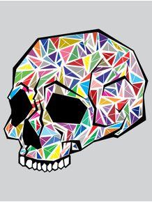quadro-skull-em-fragmentos