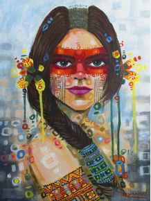 quadro-mulher-brasileira-pataxo