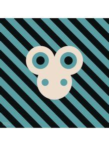 quadro-bichoque-macaco-azul