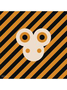 quadro-bichoque-macaco-laranja