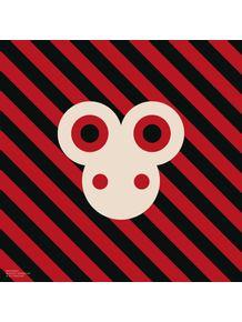 quadro-bichoque-macaco-vermelho