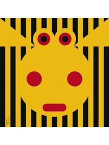 quadro-bichoque-vaca-amarela