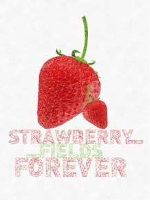 quadro-strawberry-fields-forever--low-poly-art