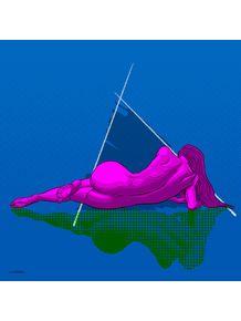 quadro-triangulo-rosa