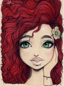 quadro-red-curls-oak