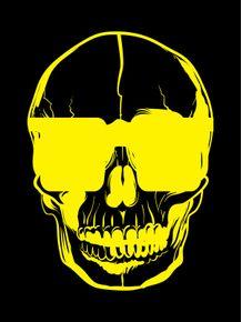 quadro-skull-black-3d