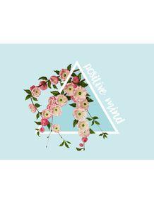 quadro-positive-mind-floral