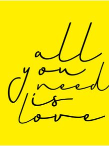 quadro-all-you-need-is-love-yellow