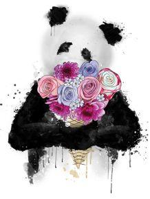 quadro-ice-cream-flowers-panda