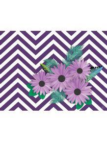 quadro-chevron-floral--violeta