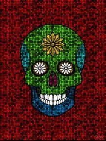 quadro-skull-pixel