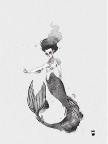 quadro-black-mermaid
