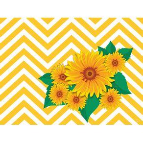 quadro-chevron-floral--girassol