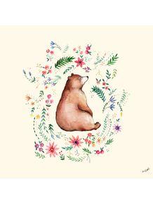 quadro-urso-na-floresta