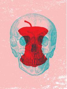 quadro-skull-bad-apple