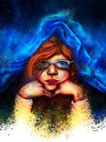 quadro-menina-debaixo-do-cobertor