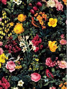 quadro-floral-and-birds-pattern
