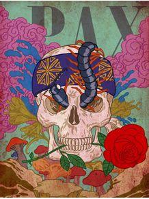 quadro-skull-n-rose