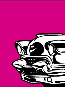 quadro-carro-fundo-rosa