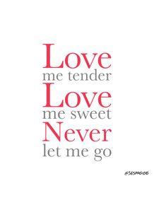 quadro-love-me-tender-ii