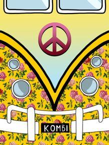 quadro-kombi-floral-amarelo