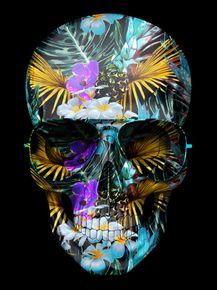 quadro-skull-color-flower