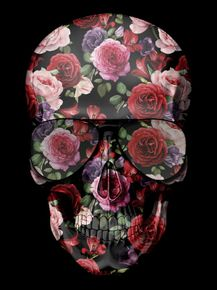 quadro-skull-roses