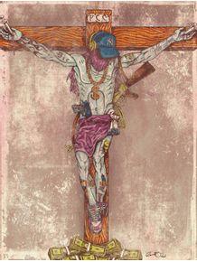 quadro-santos-modernos--jesus-pimp
