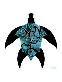quadro-tartaruga-marinha-azul