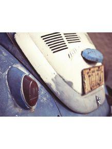 quadro-fusca-azul-antigo