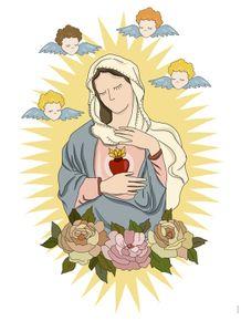 quadro-nossa-senhora--sagrado-coracao-de-maria-i