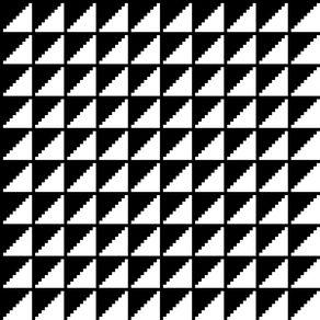 quadro-padrao-geometrico--preto-e-branco-ii