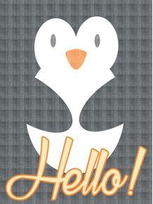 quadro-hello-pinguim