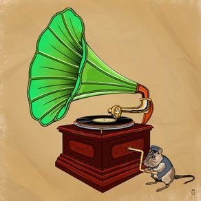 quadro-gramofone-e-mascote
